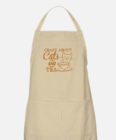 Crazy about cats and tea Apron