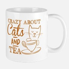 Crazy about cats and tea Mugs