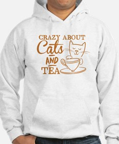 Crazy about cats and tea Jumper Hoodie