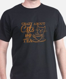 Crazy about cats and tea T-Shirt