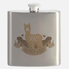 Crazy Alpaca lady Flask