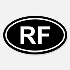 RF Oval Decal