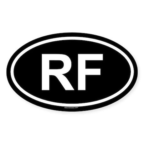 RF Oval Sticker