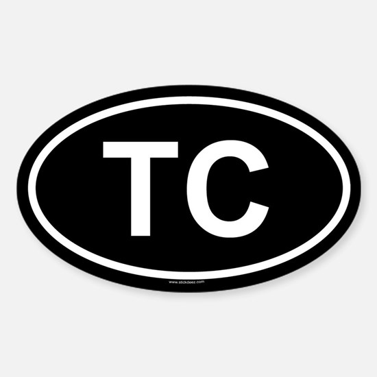 TC Oval Decal