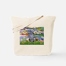 Lilies / Scot Deerhound Tote Bag
