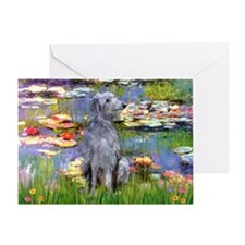 Lilies / Scot Deerhound Greeting Card