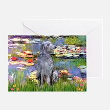 Lilies / Scot Deerhound Greeting Card