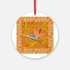 Bird of Paradise Gold Ornament (Round)
