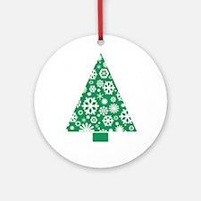 Snow Tree Ornament (Round)