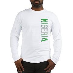 Nigeria Stamp Long Sleeve T-Shirt