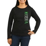 Nigeria Stamp Women's Long Sleeve Dark T-Shirt