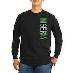 Nigeria Stamp Long Sleeve Dark T-Shirt