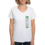 Nigeria Stamp Women's V-Neck T-Shirt