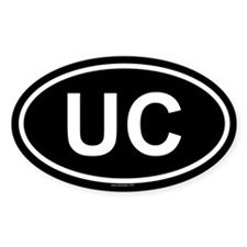UC Oval Decal
