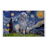 Starry /Scot Deerhound Sticker (Rectangle)