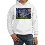 Starry /Scot Deerhound Hooded Sweatshirt