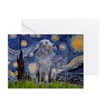 Starry /Scot Deerhound Greeting Cards (Pk of 10)