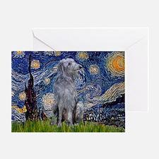 Starry /Scot Deerhound Greeting Card