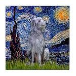 Starry /Scot Deerhound Tile Coaster