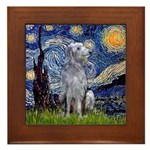 Starry /Scot Deerhound Framed Tile