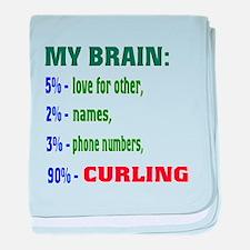 My Brain, 90% Curling . baby blanket