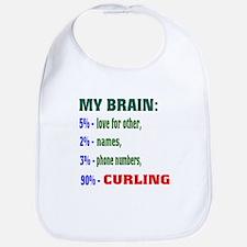 My Brain, 90% Curling . Bib