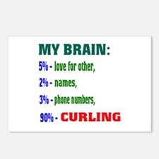 My Brain, 90% Curling . Postcards (Package of 8)