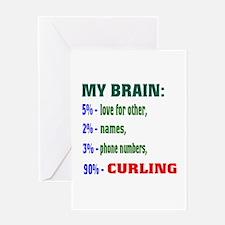 My Brain, 90% Curling . Greeting Card