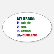My Brain, 90% Curling . Decal