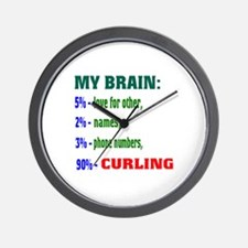 My Brain, 90% Curling . Wall Clock
