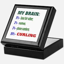 My Brain, 90% Curling . Keepsake Box