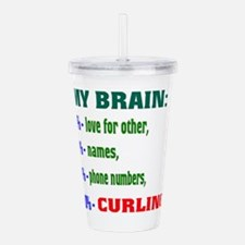 My Brain, 90% Curling Acrylic Double-wall Tumbler
