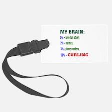 My Brain, 90% Curling . Luggage Tag