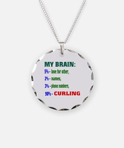 My Brain, 90% Curling . Necklace