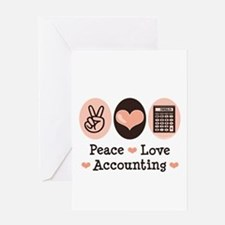 Peace Love Accounting Accountant Greeting Card