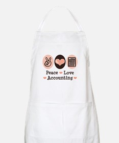 Peace Love Accounting Accountant BBQ Apron