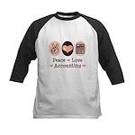 Peace Love Accounting Accountant Kids Baseball Jer