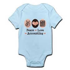 Peace Love Accounting Accountant Infant Bodysuit