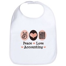 Peace Love Accounting Accountant Bib
