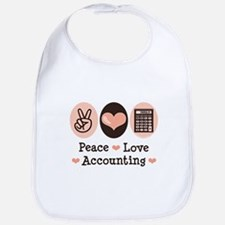 Peace Love Accounting Accountant Bib