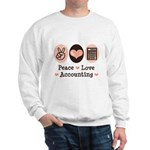 Peace Love Accounting Accountant Sweatshirt