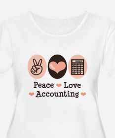 Peace Love Accounting Accountant T-Shirt
