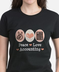 Peace Love Accounting Accountant Tee