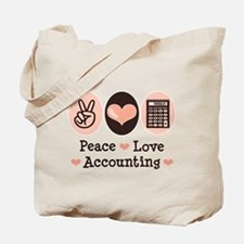 Peace Love Accounting Accountant Tote Bag