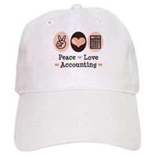 Peace Love Accounting Accountant Baseball Cap