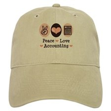 Peace Love Accounting Accountant Baseball Cap