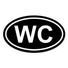 WC Oval Decal