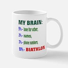 My Brain, 90% Biathlon . Mug