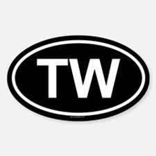 TW Oval Decal