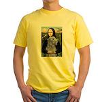 Mona /Scot Deerhound Yellow T-Shirt